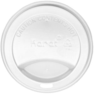 Karat 10-24oz Sipper Dome Lids - White (90mm) - 1,000 ct-Cups & Lids-Karat-Carry Out Supplies