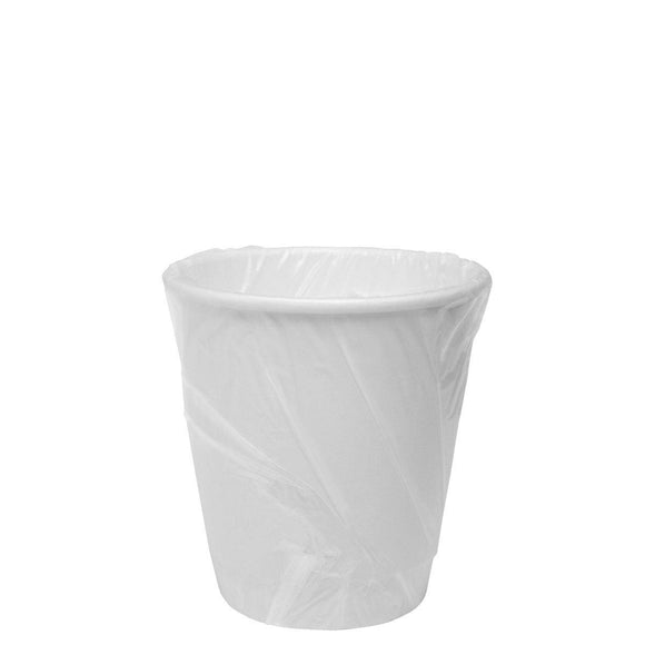 Karat 10oz Insulated Paper Hot Cups - White (90mm) - Wrapped - 500 ct-Cups & Lids-Karat-No Lids-No Sleeves-Carry Out Supplies