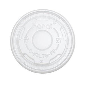 Karat 4oz PP Food Container Flat Lids (76mm) - 1,000 ct-To-Go Packaging-Karat-Carry Out Supplies