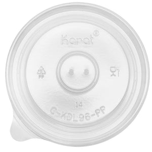 Karat 6oz - 16oz PP Gourmet Food Container Flat Lids (96mm) - 1,000 ct-To-Go Packaging-Karat-Carry Out Supplies
