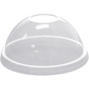 Karat 92mm PET Dome Lids - No Hole - 1,000 ct-Cups & Lids-Karat-Carry Out Supplies