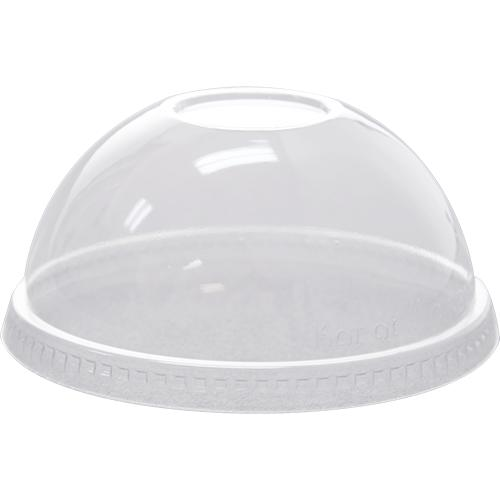 Karat 98mm PET Dome Lids - No Hole - 1,000 ct-Cups & Lids-Karat-Carry Out Supplies
