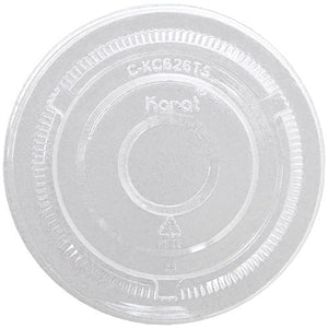 Karat 98mm PET Flat Lids - No Hole - 1,000 ct-Cups & Lids-Karat-Carry Out Supplies