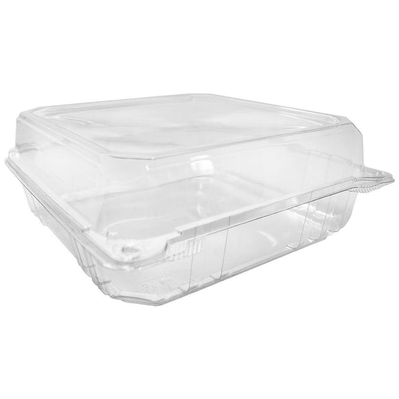 Karat 9''x9'' PET Hinged Containers - 200 ct-To-Go Packaging-Karat-Carry Out Supplies