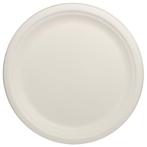 Karat Earth 10'' Compostable Bagasse Round Plates - 500 ct-Bowls & Plates-Karat-Carry Out Supplies