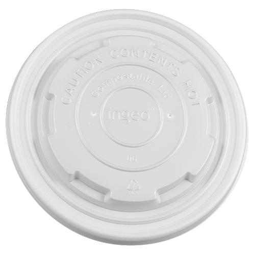 Karat Earth 12-16oz Compostable Paper Food Container Flat Lids (114.6mm) - 500 ct-To-Go Packaging-Karat-Carry Out Supplies