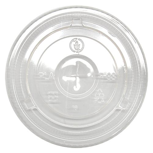 Karat Earth 12-24oz PLA Eco-Friendly Flat Lids (98mm) - 1,000 ct-Cups & Lids-Karat-Carry Out Supplies