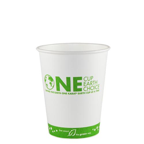 Karat Earth 12oz Eco-Friendly Paper Hot Cups - One Cup, One Earth (90mm) - 1,000 ct-Cups & Lids-Karat-Carry Out Supplies