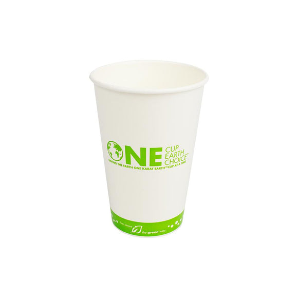Karat Earth 16oz Eco-Friendly Paper Cold Cups - One Cup, One Earth - 90mm - 1,000 ct-Cups & Lids-Karat-No Lids-Carry Out Supplies