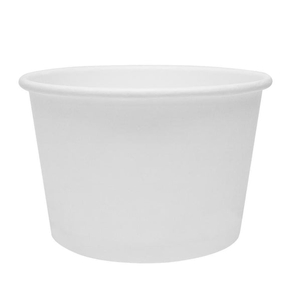 Karat Earth 16oz Eco-Friendly Paper Food Containers - White (114.6mm) - 500 ct-To-Go Packaging-Karat-Carry Out Supplies