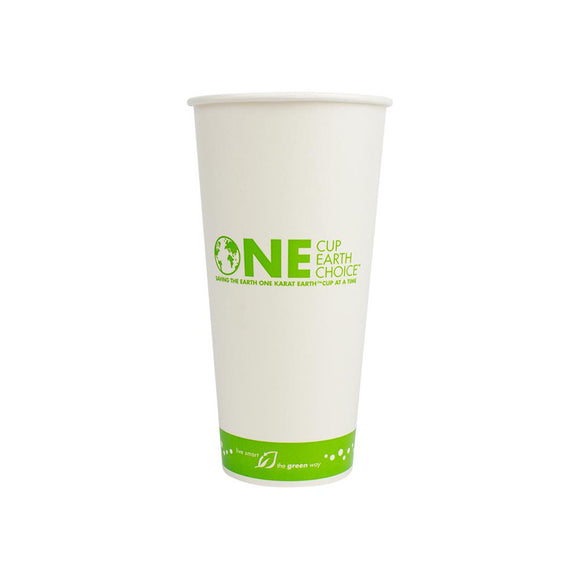 Karat Earth 22oz Eco-Friendly Paper Cold Cups - One Cup, One Earth - 90mm - 1,000 ct-Cups & Lids-Karat-No Lids-Carry Out Supplies