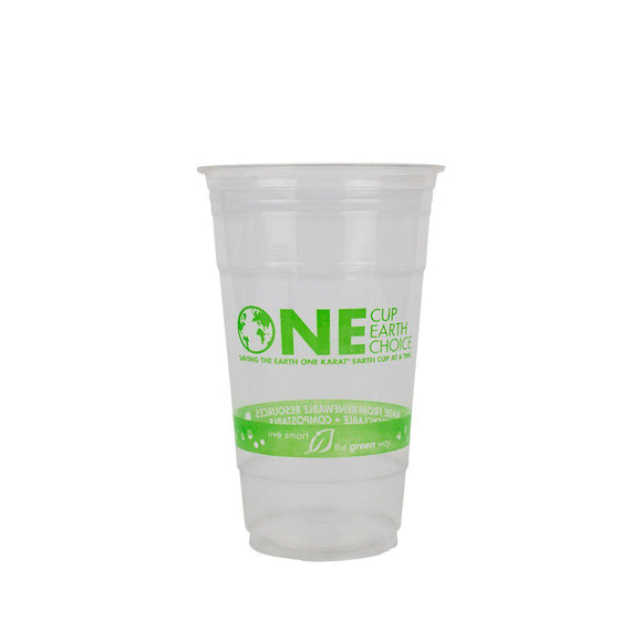 Karat Earth 24oz PLA Eco-Friendly Cup - Generic (98mm) - 600 ct-Cups & Lids-Karat-Carry Out Supplies