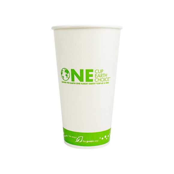 Karat Earth 32oz Eco-Friendly Paper Cold Cups - One Cup, One Earth - 104.5mm - 600 ct-Cups & Lids-Karat-No Lids-Carry Out Supplies