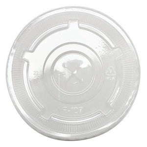 Karat Earth 32oz PLA Eco-Friendly Flat Lids (107mm) - 600 ct-Cups & Lids-Karat-Carry Out Supplies