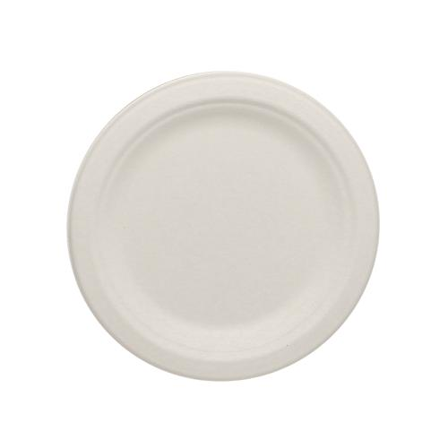 Karat Earth 6'' Compostable Bagasse Round Plates - 1,000 ct-Bowls & Plates-Karat-Carry Out Supplies