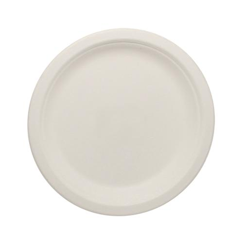 Karat Earth 7'' Compostable Bagasse Round Plates - 1,000 ct-Bowls & Plates-Karat-Carry Out Supplies