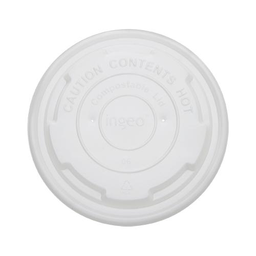Karat Earth 8oz Compostable Paper Food Container Flat Lids (90.8mm) - 1,000 ct-To-Go Packaging-Karat-Carry Out Supplies