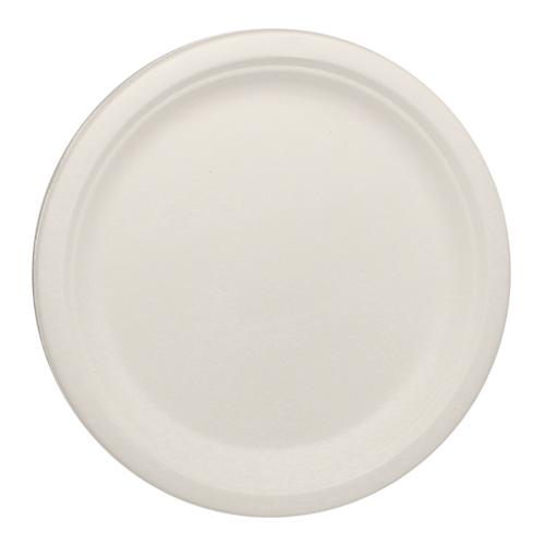 Karat Earth 9'' Compostable Bagasse Round Plates - 500 ct-Bowls & Plates-Karat-Carry Out Supplies