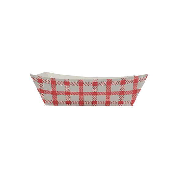 Karat Food Tray - Shepherd's Check (Red) - 0.5 lb-To-Go Packaging-Karat-Carry Out Supplies