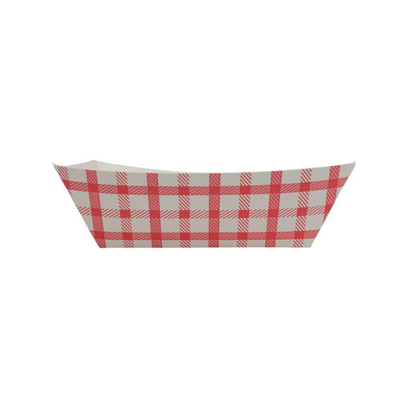 Karat Food Tray - Shepherd's Check (Red) - 1.0 lb-To-Go Packaging-Karat-Carry Out Supplies