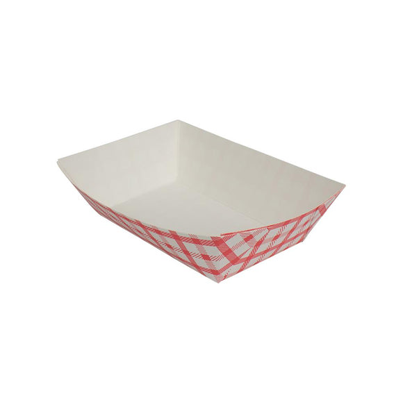 Karat Food Tray - Shepherd's Check (Red) - 2.0 lb-To-Go Packaging-Karat-Carry Out Supplies