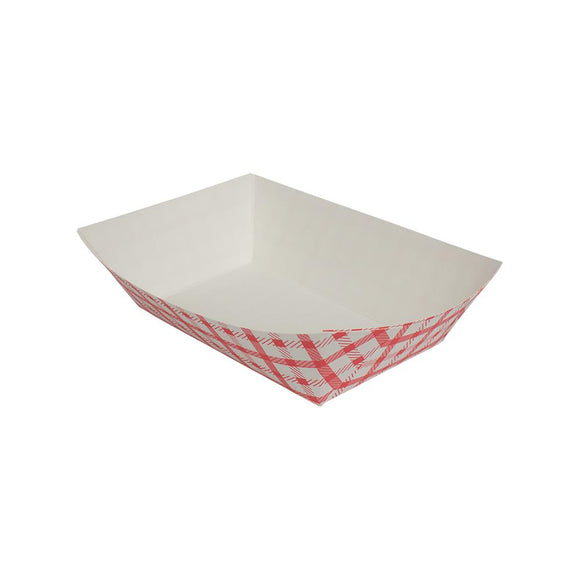 Karat Food Tray - Shepherd's Check (Red) - 2.5 lb-To-Go Packaging-Karat-Carry Out Supplies