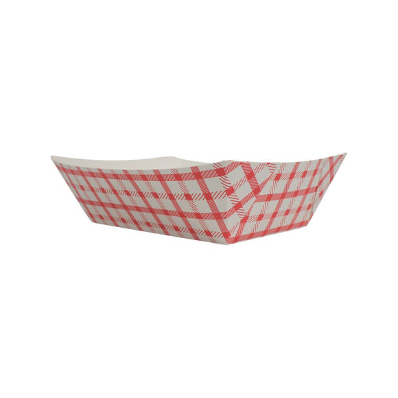 Karat Food Tray - Shepherd's Check (Red) - 3.0 lb-To-Go Packaging-Karat-Carry Out Supplies