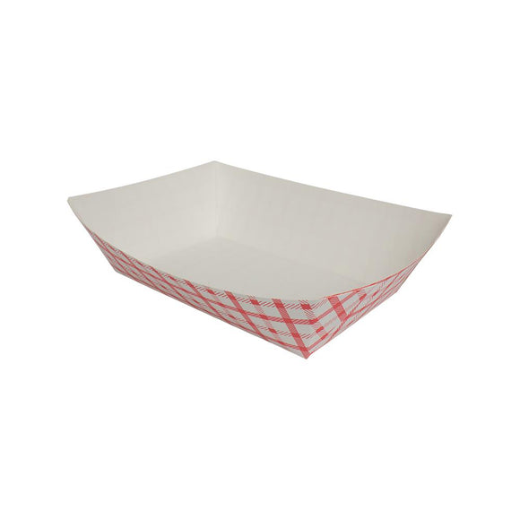 Karat Food Tray - Shepherd's Check (Red) - 5.0 lb-To-Go Packaging-Karat-Carry Out Supplies