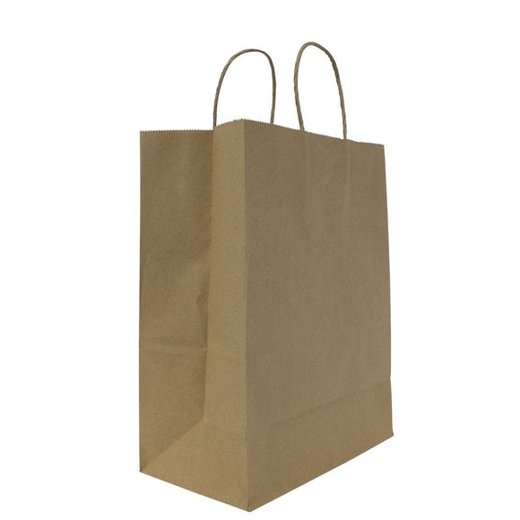 Karat Laguna (Medium) Paper Shopping Bags - Kraft - 250 ct-To-Go Packaging-Karat-Carry Out Supplies