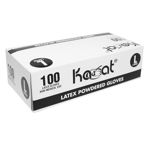 Karat Latex Powdered Gloves (Clear) - Large - 1,000 ct-Gloves-Karat-Carry Out Supplies