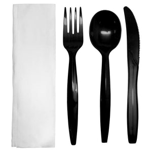 Karat PP Medium-Heavy Weight Cutlery Kits - Black - 250 ct-Utensils-Karat-Carry Out Supplies