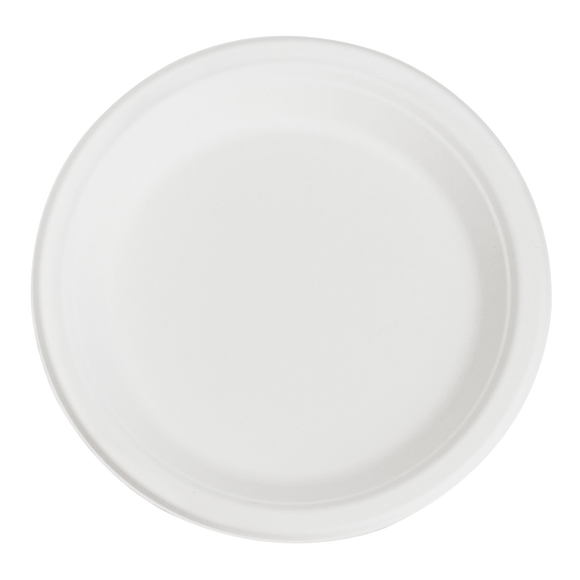 Karat Earth 9'' Compostable Bagasse Round Plates - 500 ct