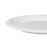 Karat Earth 9'' Compostable Bagasse Round Plates - 500 ct-Restaurant Supply Drop