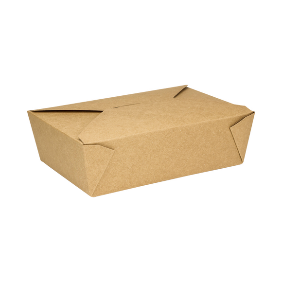 Kraft Microwavable Folded Paper #3 Take-Out Container - Karat Large Fold-To-Go Box - 76oz - 7.8