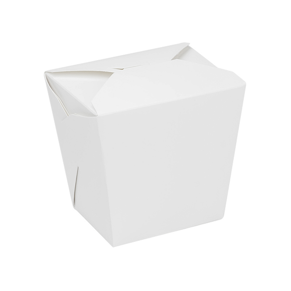 Large Oyster Pails - 32oz Chinese Takeout Containers - Paper Food Pail - White - 450 Count-Restaurant Supply Drop