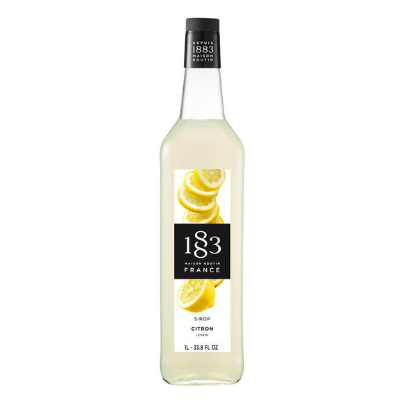Lemon Syrup 1883 Maison Routin - 1 Liter Bottle-Syrups-1883 Maison Routin-Carry Out Supplies