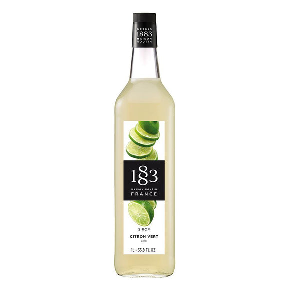 Lime Syrup 1883 Maison Routin - 1 Liter Bottle-Syrups-1883 Maison Routin-Carry Out Supplies