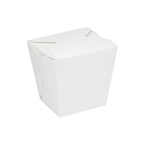 Medium Oyster Pails - 26oz Chinese Takeout Boxes- White - 450 Count-Restaurant Supply Drop