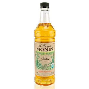 Monin Agave Nectar Organic Sweetener Syrup Bottle - 1 Liter-Syrups-monin-Carry Out Supplies