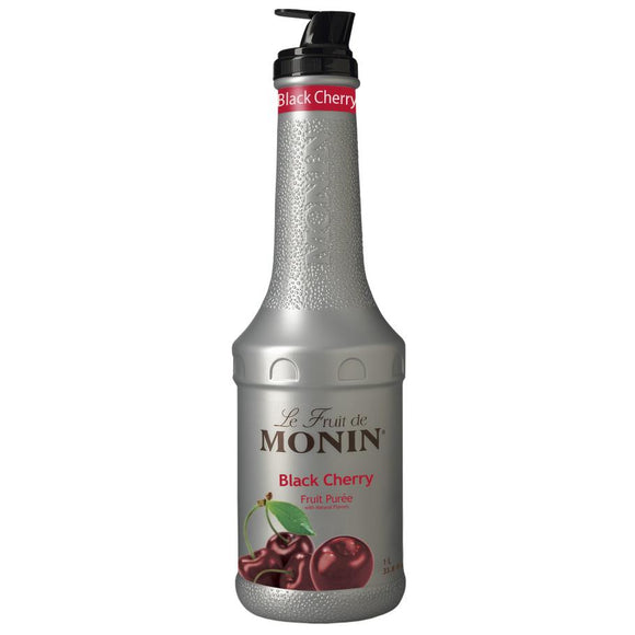 Monin Black Cherry Fruit Pure (1L)-Liquid Base & Purees-monin-Carry Out Supplies
