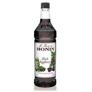 Monin Black Raspberry Syrup Bottle - 1 Liter-Syrups-monin-Carry Out Supplies