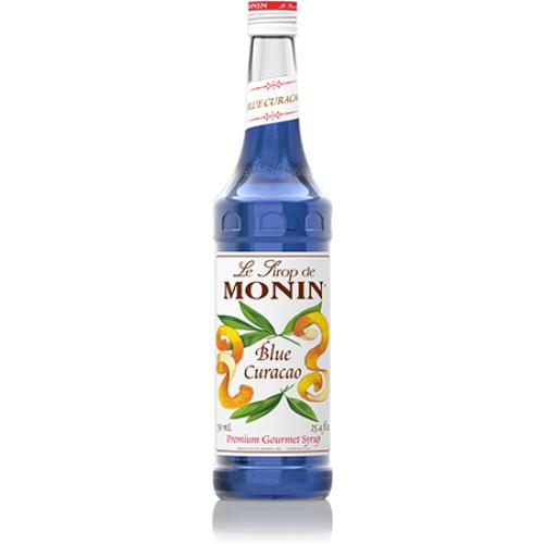 Monin Blue Curacao Syrup Bottle - 750ml-Syrups-monin-Carry Out Supplies