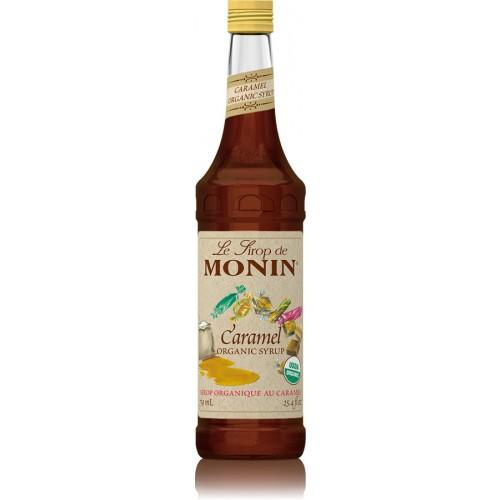 Monin Caramel Organic Syrup Bottle - 750ml-Syrups-monin-Carry Out Supplies