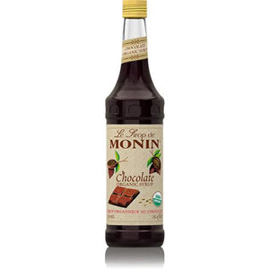 Monin Chocolate Organic Syrup Bottle - 750ml-Syrups-monin-Carry Out Supplies