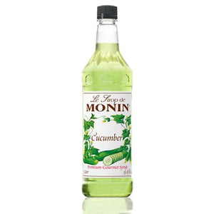 Monin Cucumber Syrup Bottle - 1 Liter-Syrups-monin-Carry Out Supplies