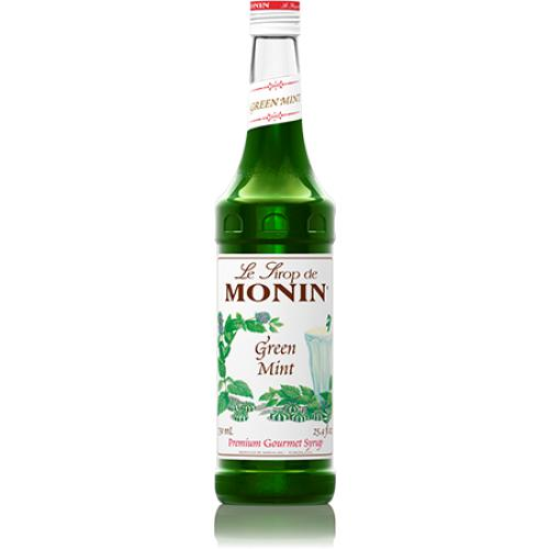 Monin Green Mint Syrup Bottle - 750ml-Syrups-monin-Carry Out Supplies