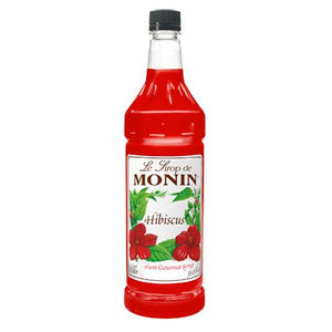 Monin Hibiscus Syrup Bottle - 1 Liter-Syrups-monin-Carry Out Supplies