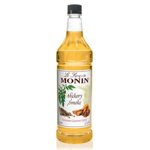 Monin Hickory Smoke Syrup Bottle - 1 Liter-Syrups-monin-Carry Out Supplies