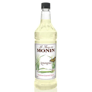 Monin Lemon Grass Syrup Bottle - 1 Liter-Syrups-monin-Carry Out Supplies