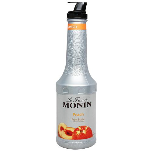 Monin Peach Fruit Pure (1L)-Liquid Base & Purees-monin-Carry Out Supplies